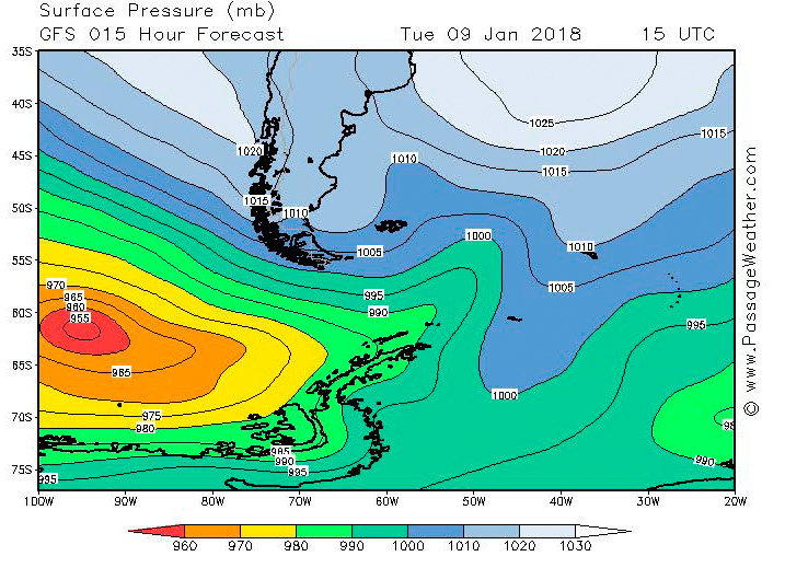 2018-01-09 weather - surface pressure