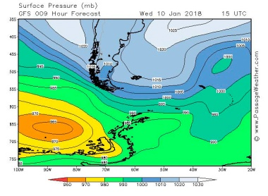 2018-01-10 weather - surface pressure