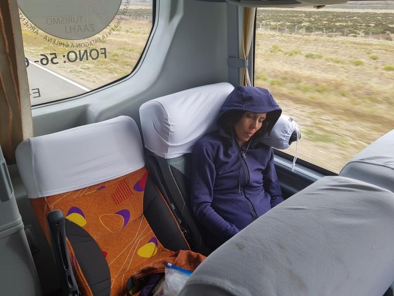 Christina im Bus