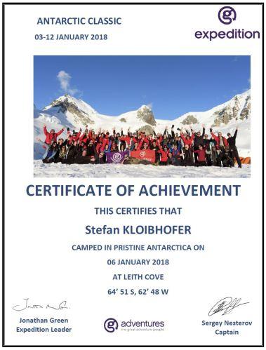 Camping certificate Stefan